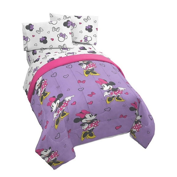 Minnie Mouse Purple Love Full Size Bed Set Disney